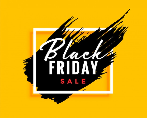 Modern black friday background with ink effect Free Vector