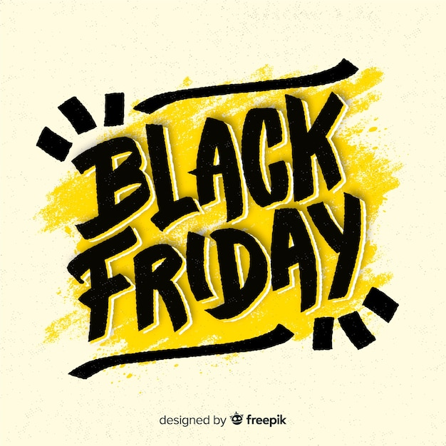 Modern black friday composition with flat design Free Vector