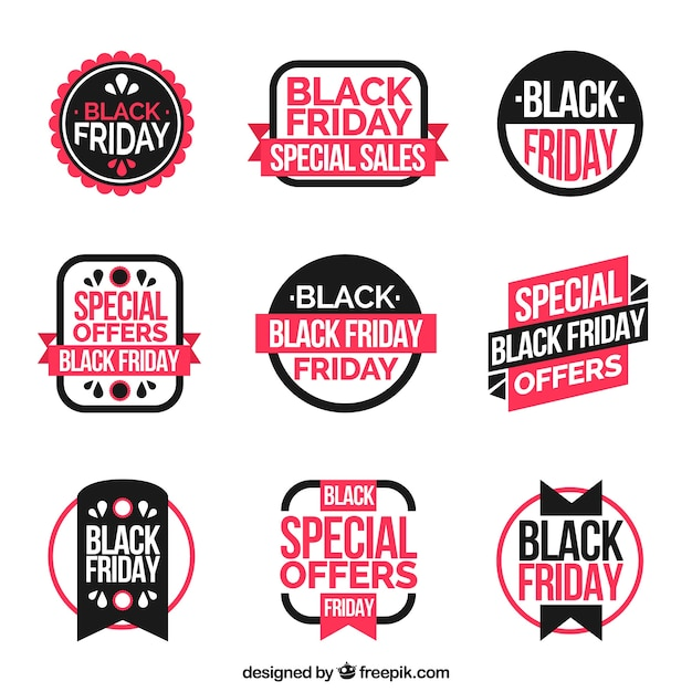 Modern black friday labels