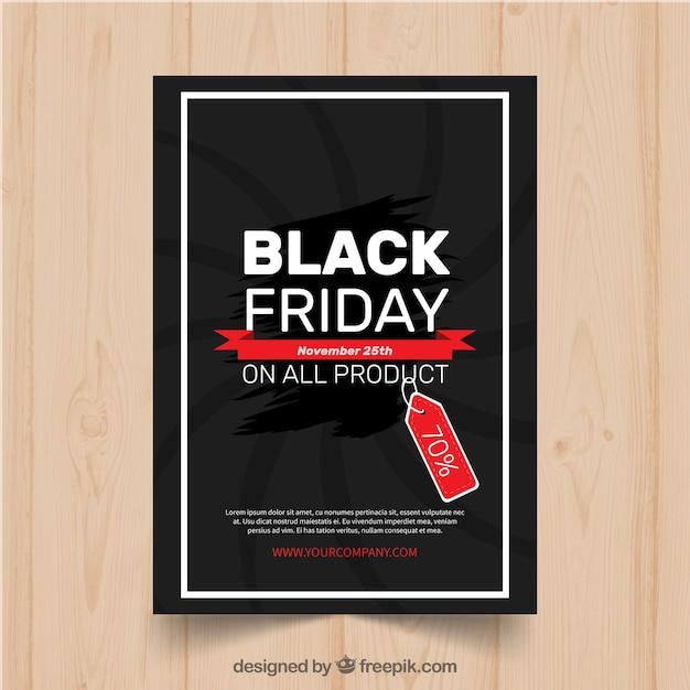Modern black friday poster template