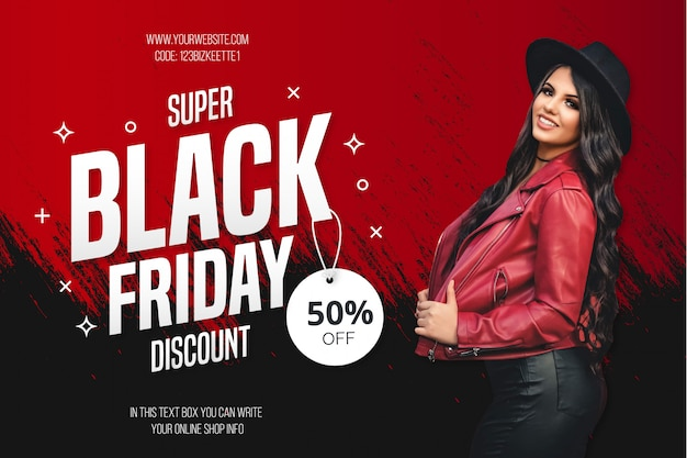 Modern black friday sale background template Free Vector