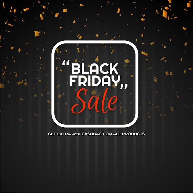 현대 검은 금요일 판매 황금 색종이 배경 벡터 무료 벡터