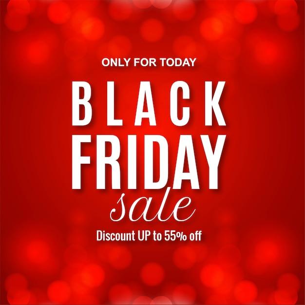 Modern black friday sale red banner Free Vector