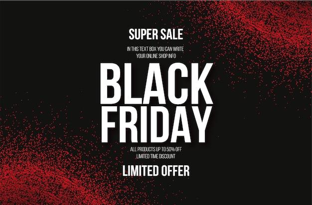 Современная распродажа черная пятница с эффектом абстрактного фона крови Бесплатные векторы