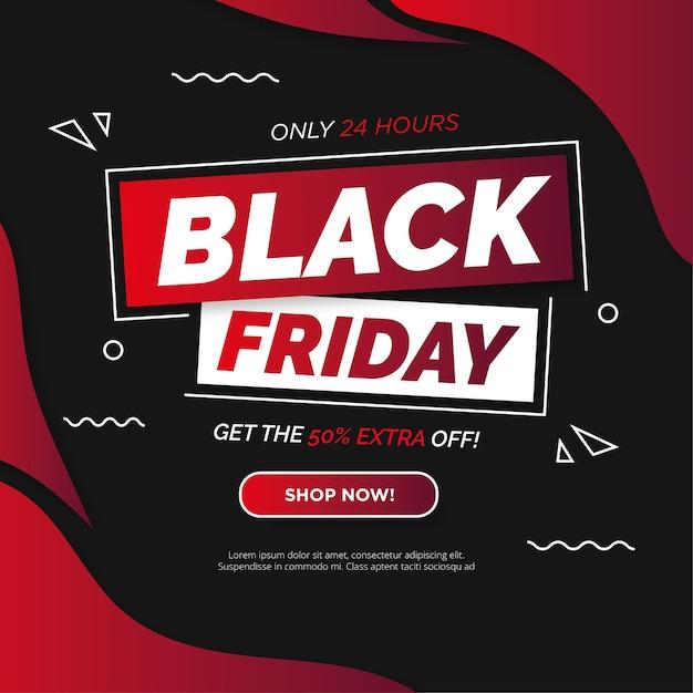 Современный баннер супер распродажи черная пятница Бесплатные векторы