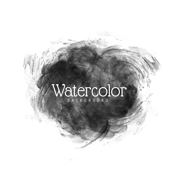 Modern black watercolor vector design Free Vector