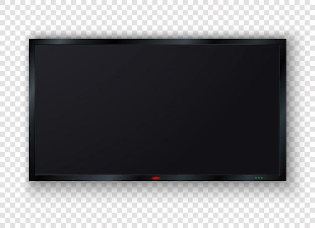 Современный пустой жк-телевизор, цифровой экран, дисплей, панель. Premium векторы