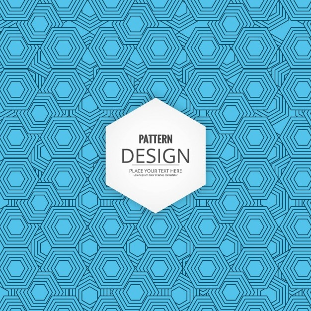 Modern blue background with geometric hexagons