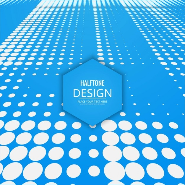 Modern blue background with halftone dots