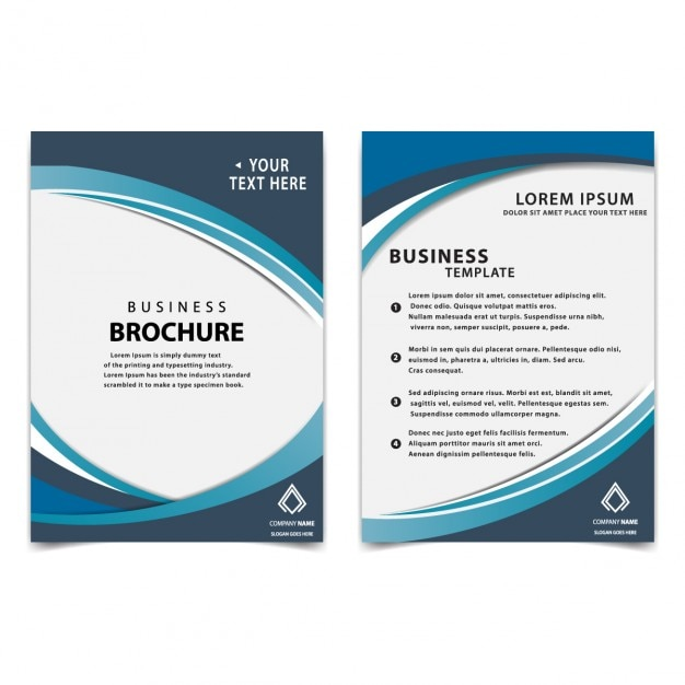 business brochure templates free download - modern blue business brochure template vector free download