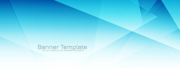 Banner di design geometrico di colore blu moderno Vettore gratuito