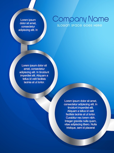 Modern Blue Company Flyer Template Vector | Free Download
