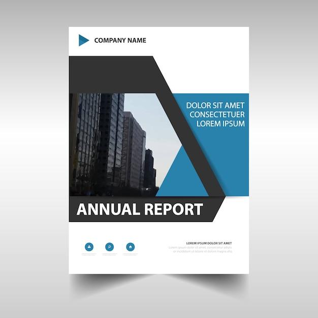 Modern blue corporate annual report design
