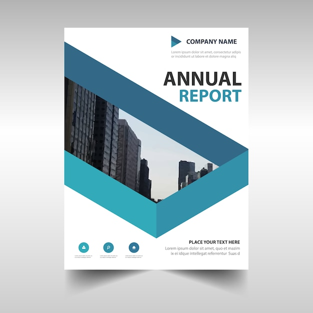 Modern Blue Corporate Brochure Template Vector  Free Download