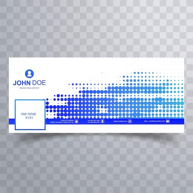 Modern blue dotted facebook cover for timeline design Free Vector