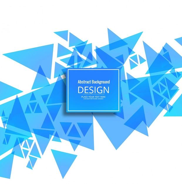 Modern blue geometric background
