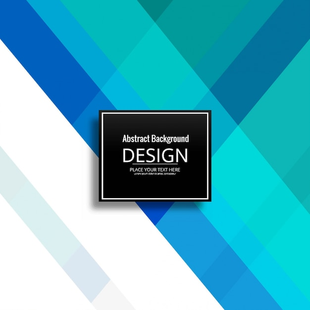 Modern blue geometric background