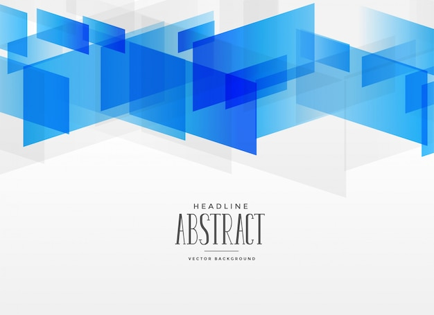 Modern blue geometric shape abstract background Free Vector
