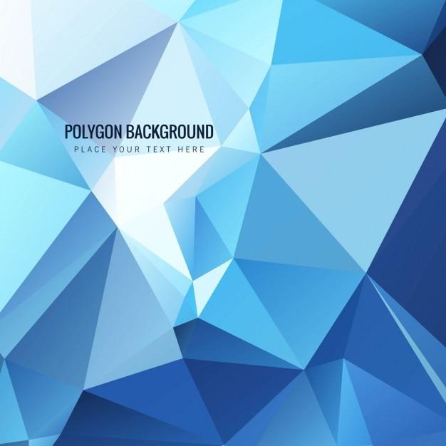 modern blue polygonal background vector free download
