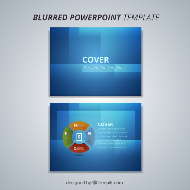 Modern Blue Powerpoint Template Vector Free Download