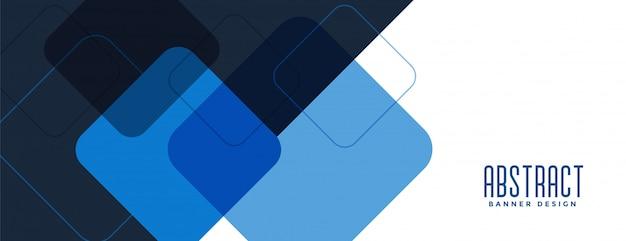 Ampio design di banner business moderno blu stile professionale Vettore gratuito