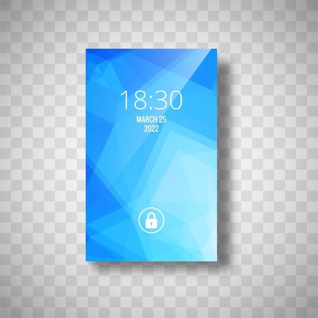 Modern blue smartphone wallpaper