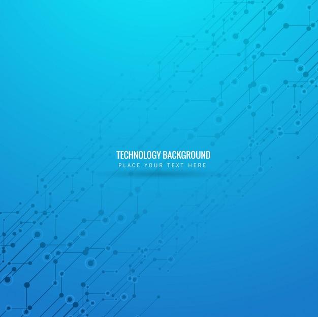 Modern blue technology background