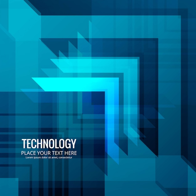 Modern blue technology background