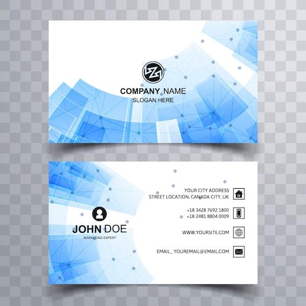 Modern blue technology business card vector free download modern blue technology business card free vector reheart Gallery