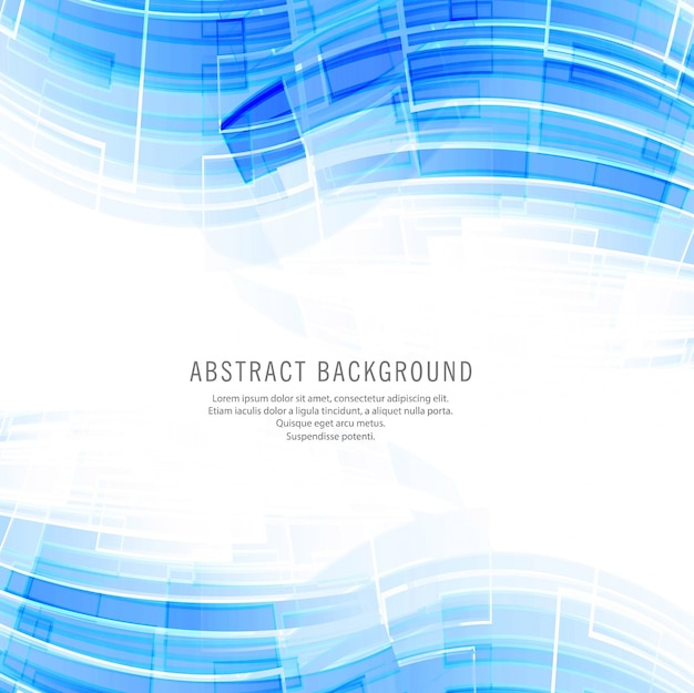 Modern blue technology wave background Free Vector