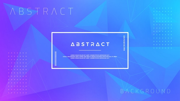 Modern blue triangle background. Premium Vector