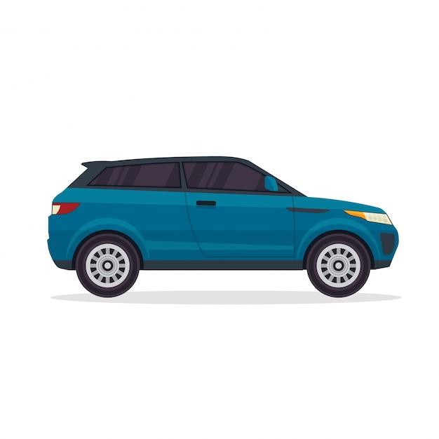 Modern blue urban adventure suv vehicle illustration Free Vector