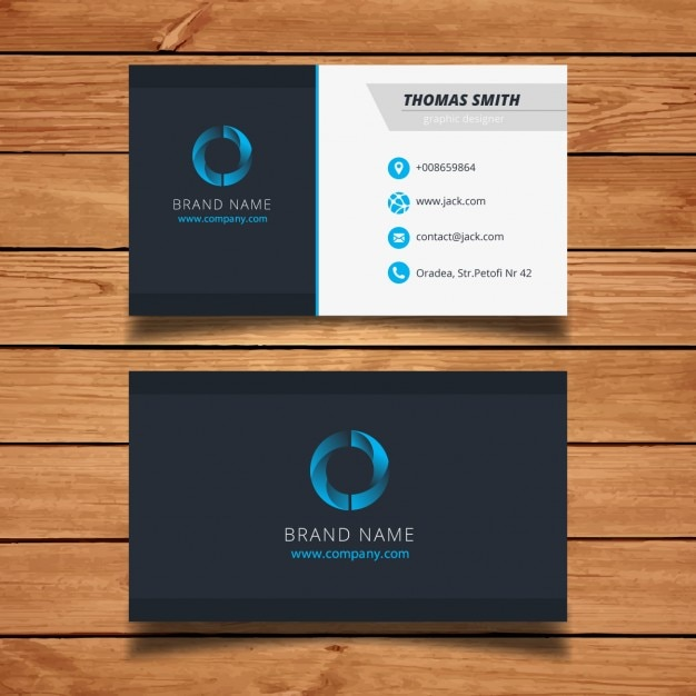 Modern blue visit card template vector free download modern blue visit card template free vector cheaphphosting Gallery