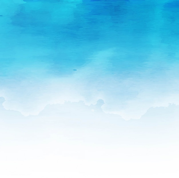 Modern blue watercolor background design Free Vector