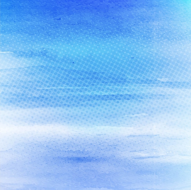Modern blue watercolor background with halftone dots