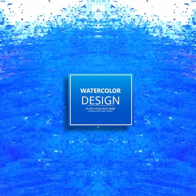 Modern blue watercolor design background