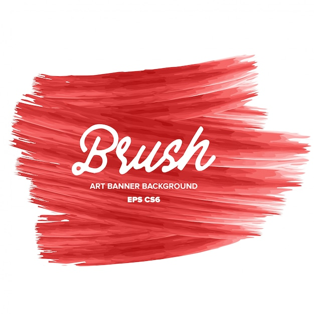 Modern blush art banner background Free Vector