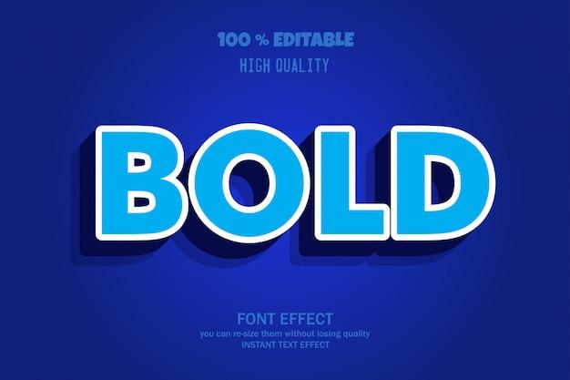 Modern bold font effect, editable font Premium Vector
