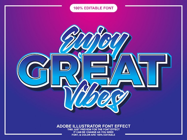 Modern bold lettering on gradient background Premium Vector