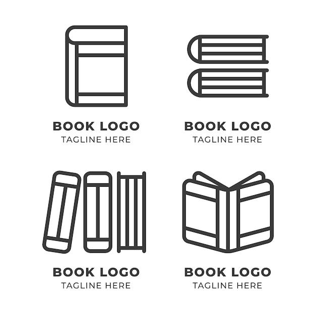 현대 책 로고 세트 무료 벡터