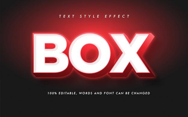 Modern box bold text style effect Premium Vector