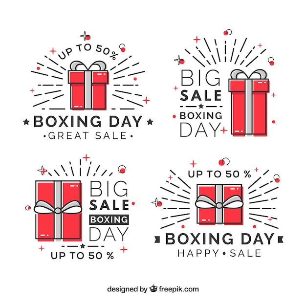 Modern boxing day sale badge Free Vector