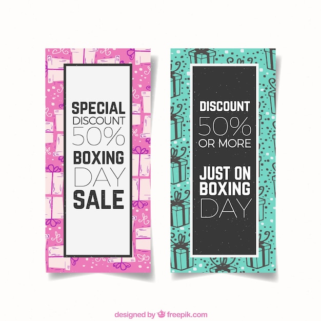 Modern boxing day sale banner