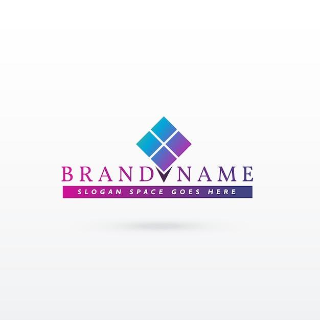 Modern brand logo template