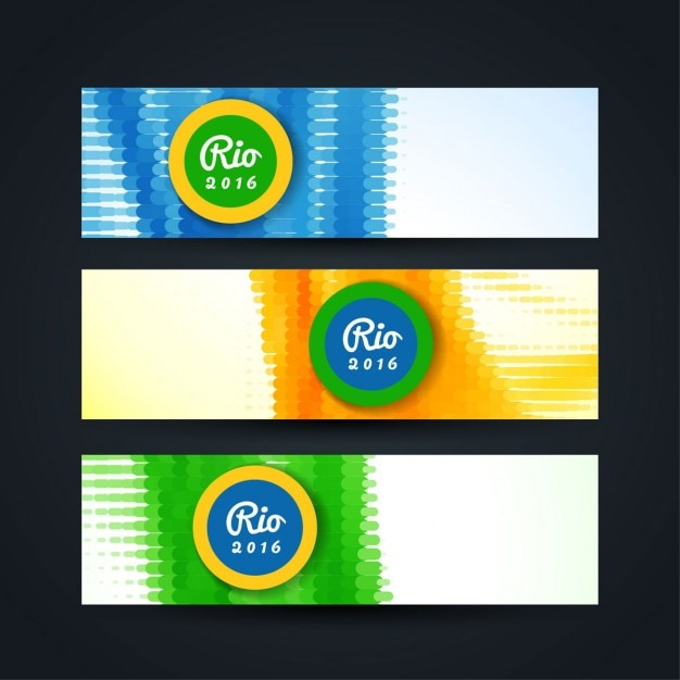 Modern brazil banners in abstract style