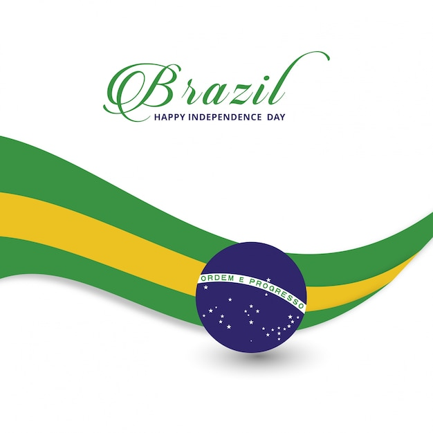 Modern brazil independence day design Free Vector