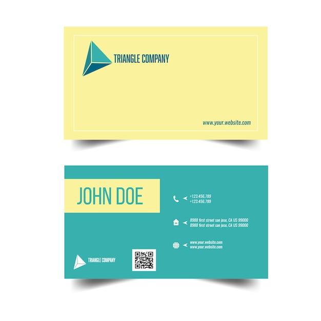 Modern Bright Business Card Template Vector