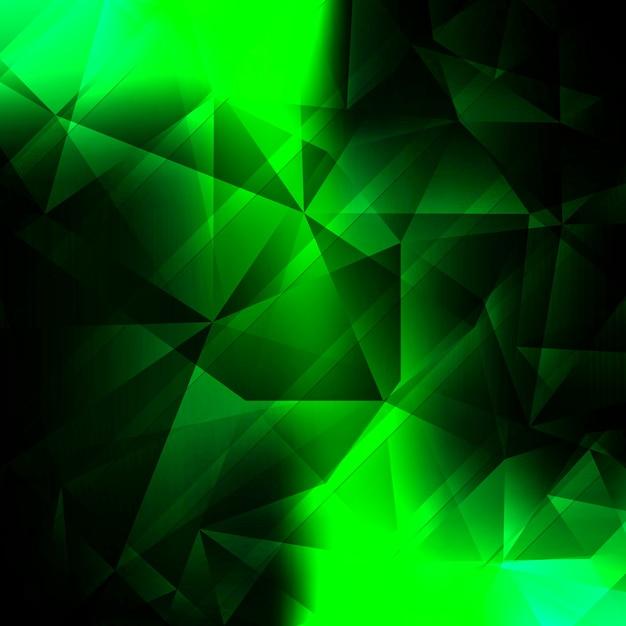 Modern bright green polygonal background