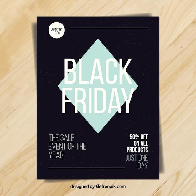 Modern brochure black friday