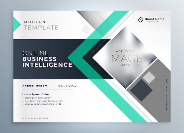 Modern brochure for business presentation Free Vector